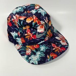 NIKE Floral Iris Tropical Print Baseball Hat Cap